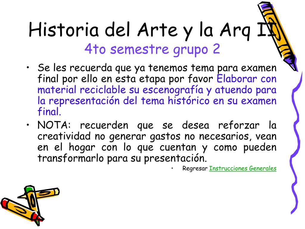 Historia del Arte y la Arq II