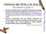 historia del arte y la arq ii 4to semestre grupo 2
