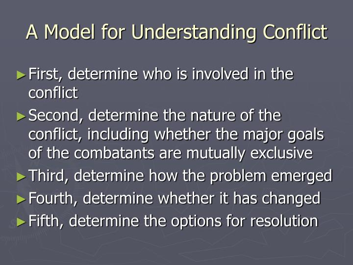 A model for understanding conflict
