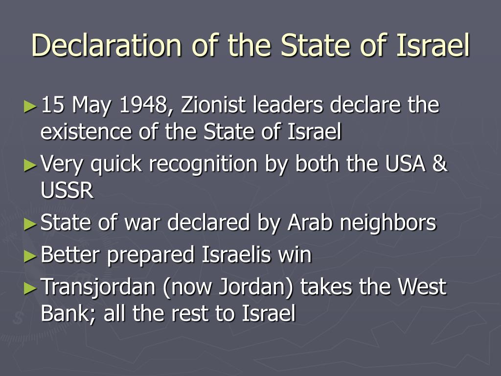 Declaration of the State of Israel