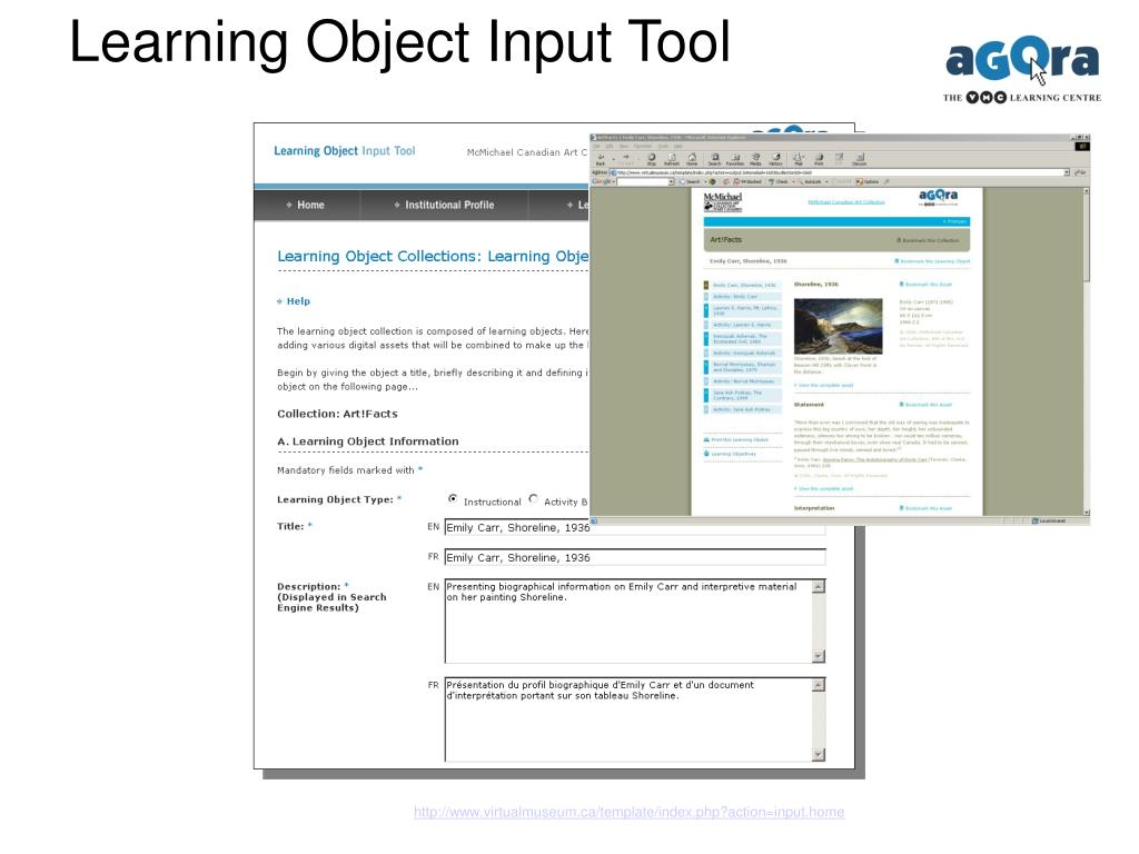 Learning Object Input Tool