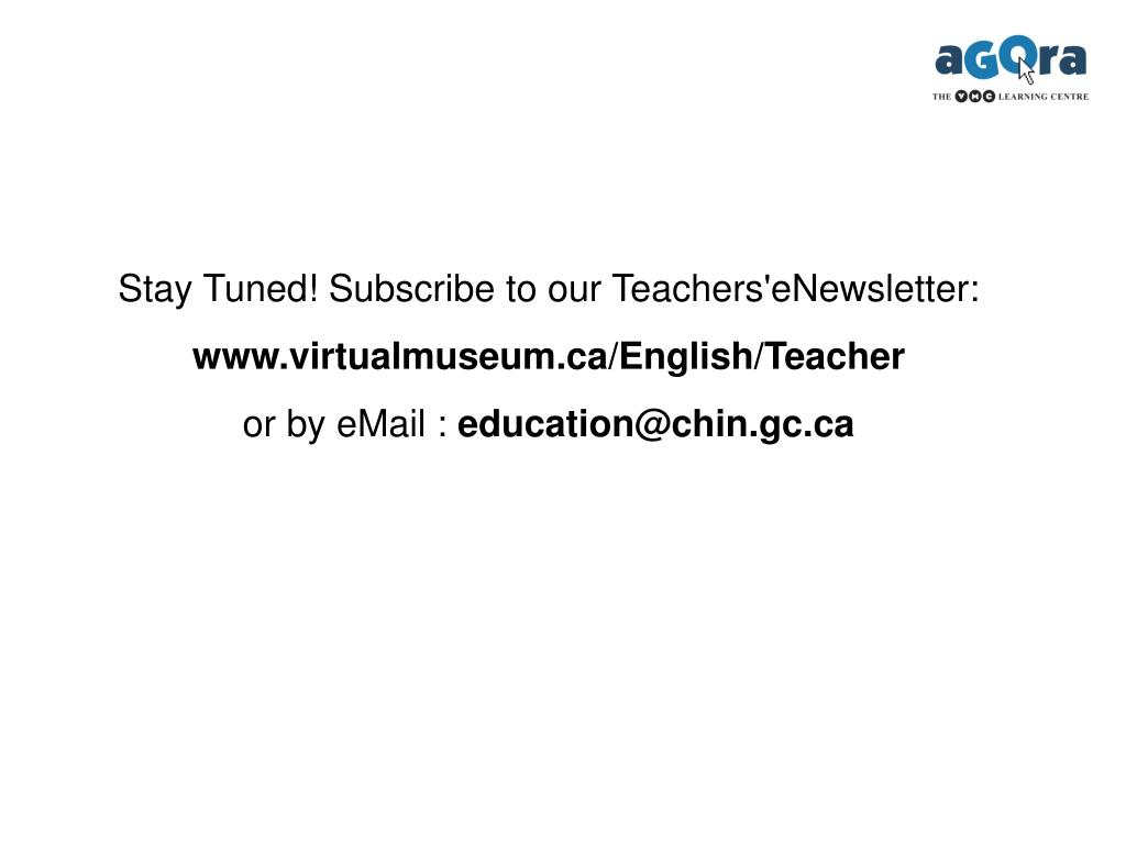 Stay Tuned! Subscribe to our Teachers'eNewsletter: