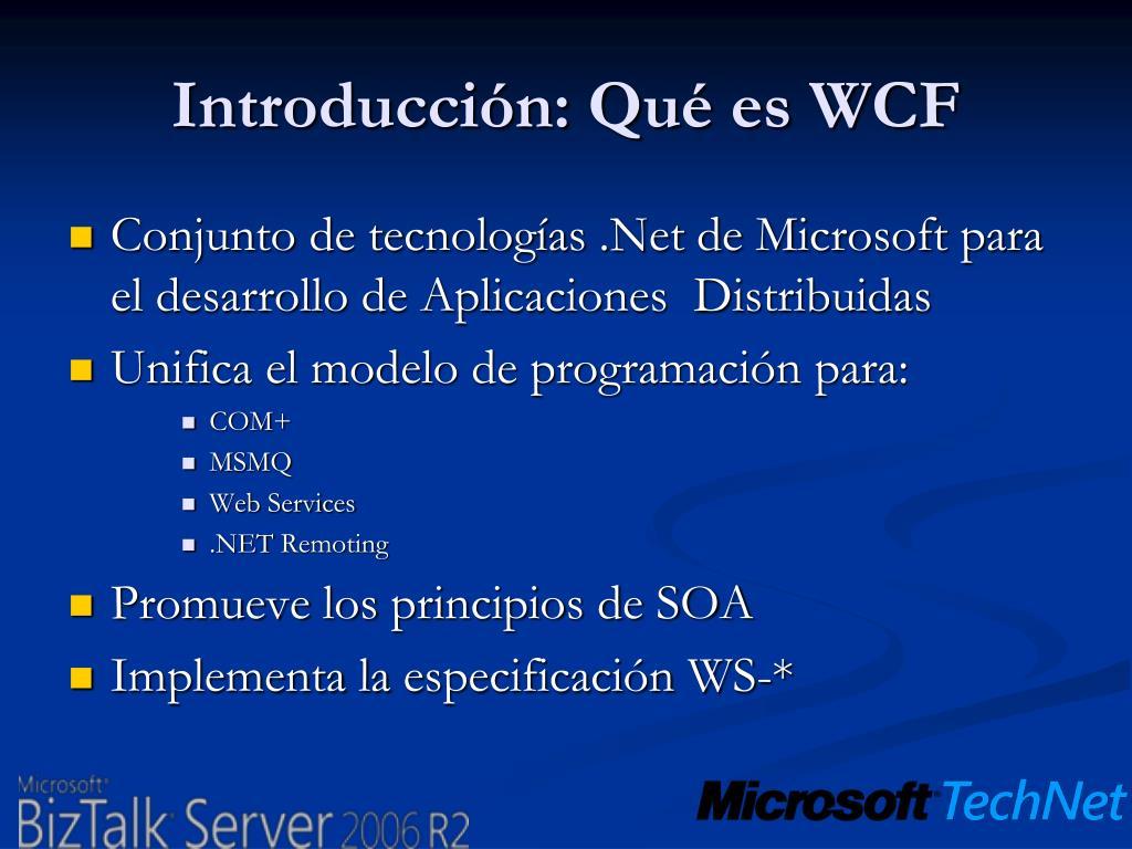 Introducción: Qué es WCF