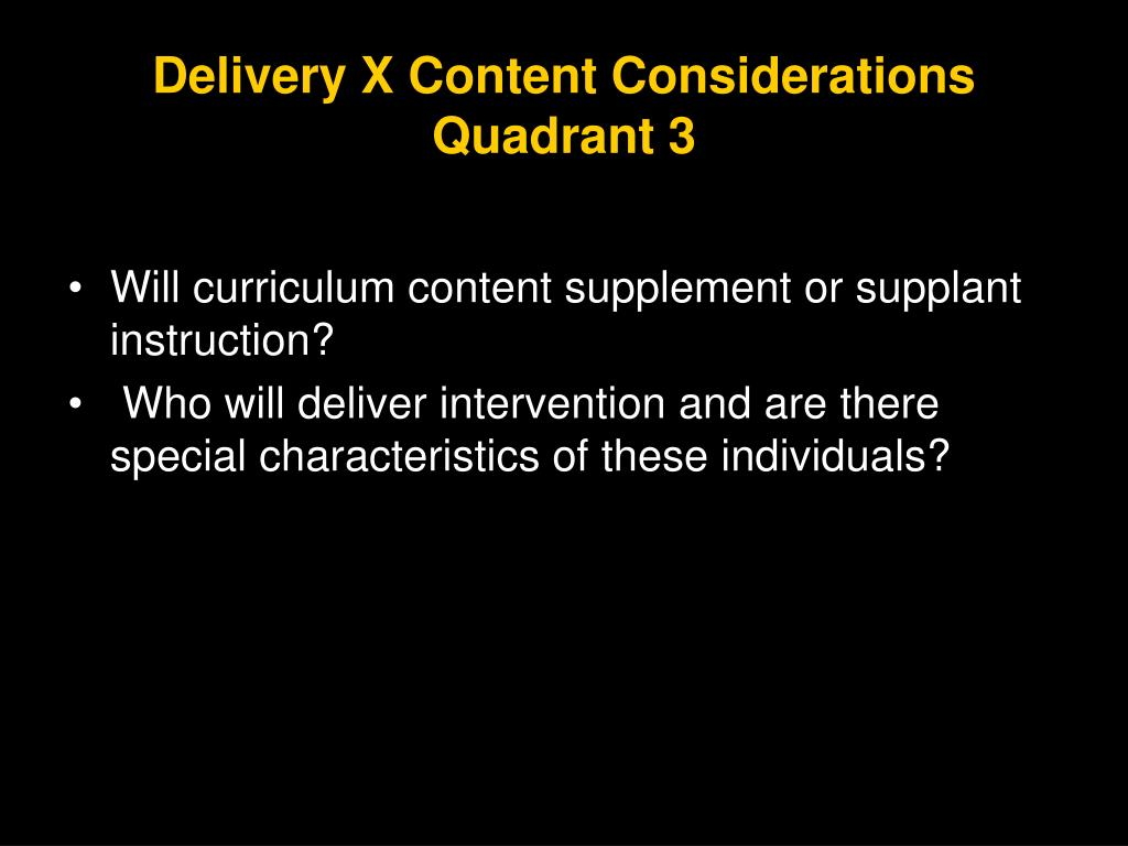 Delivery X Content Considerations
