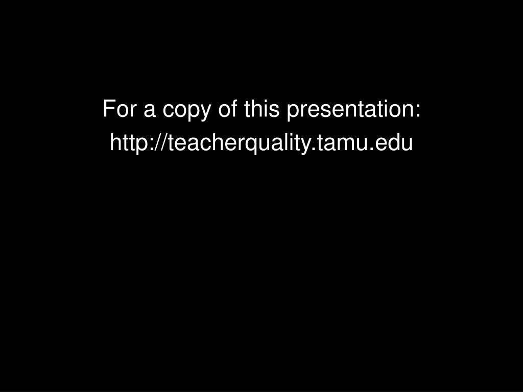 For a copy of this presentation: