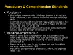 vocabulary comprehension standards