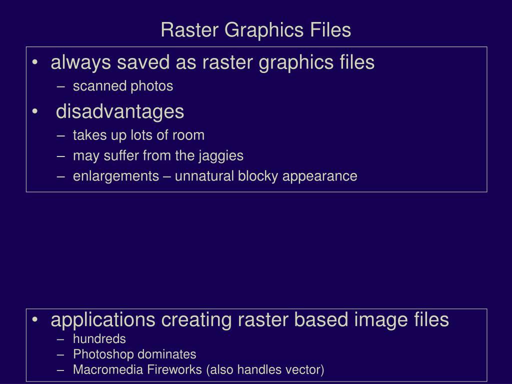 Raster Graphics Files
