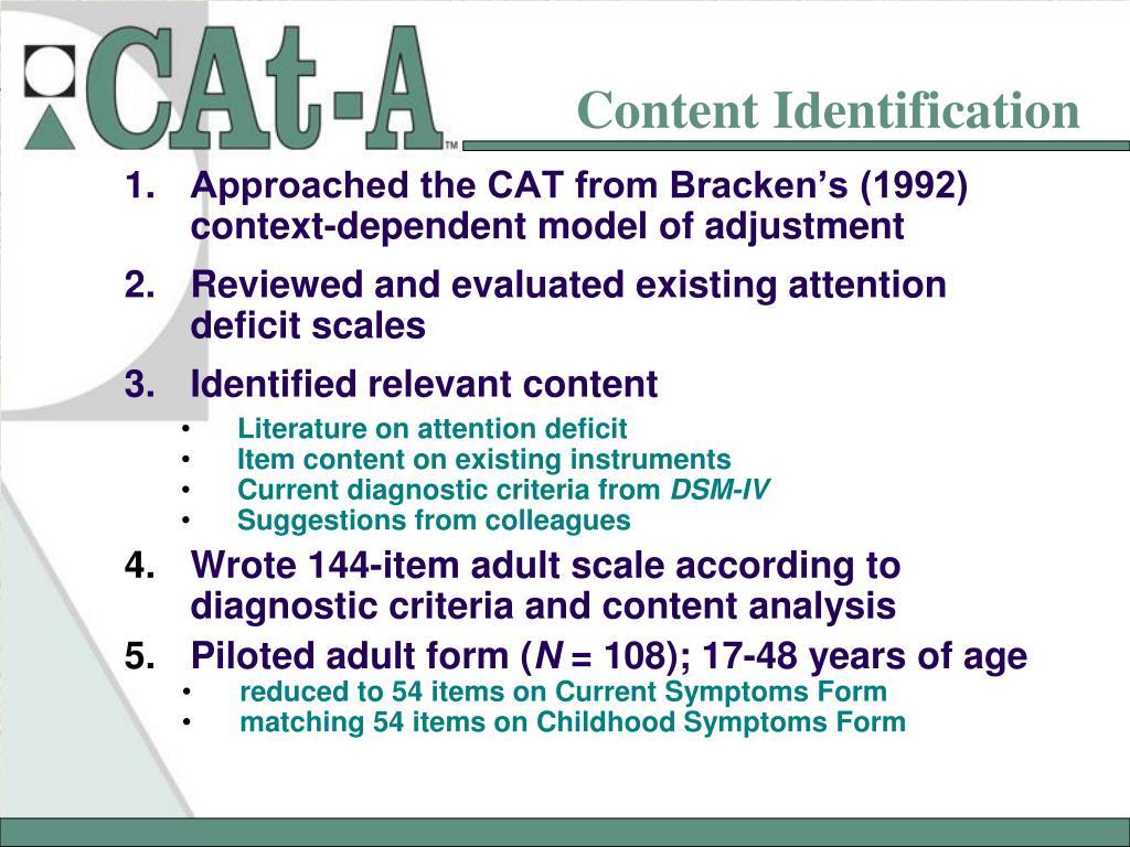 Content Identification