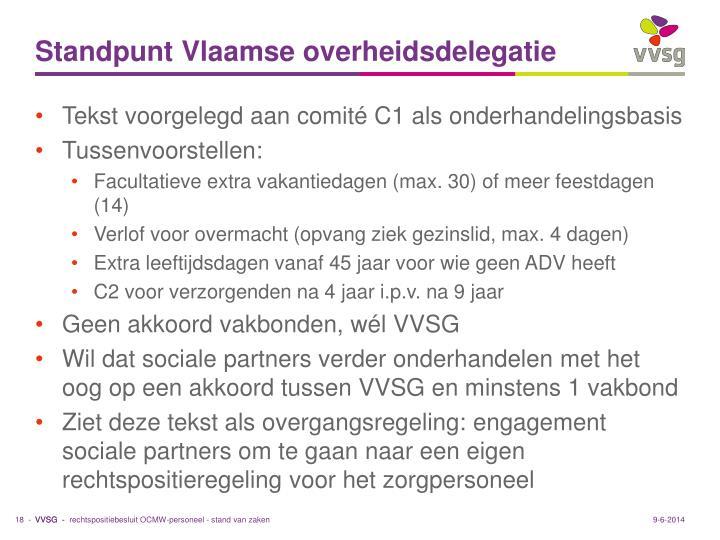 Standpunt Vlaamse overheidsdelegatie