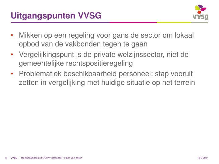 Uitgangspunten VVSG