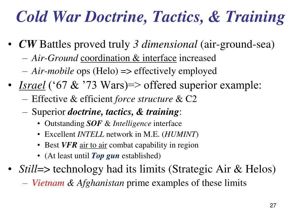 Cold War Doctrine, Tactics, & Training