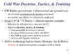 cold war doctrine tactics training