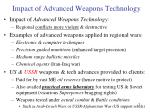 impact of advanced weapons technology