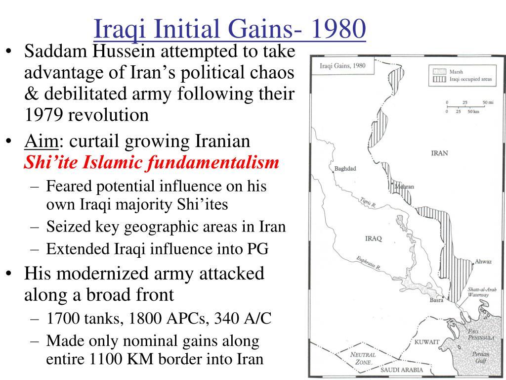 Iraqi Initial Gains- 1980