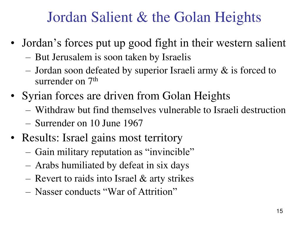 Jordan Salient & the Golan Heights