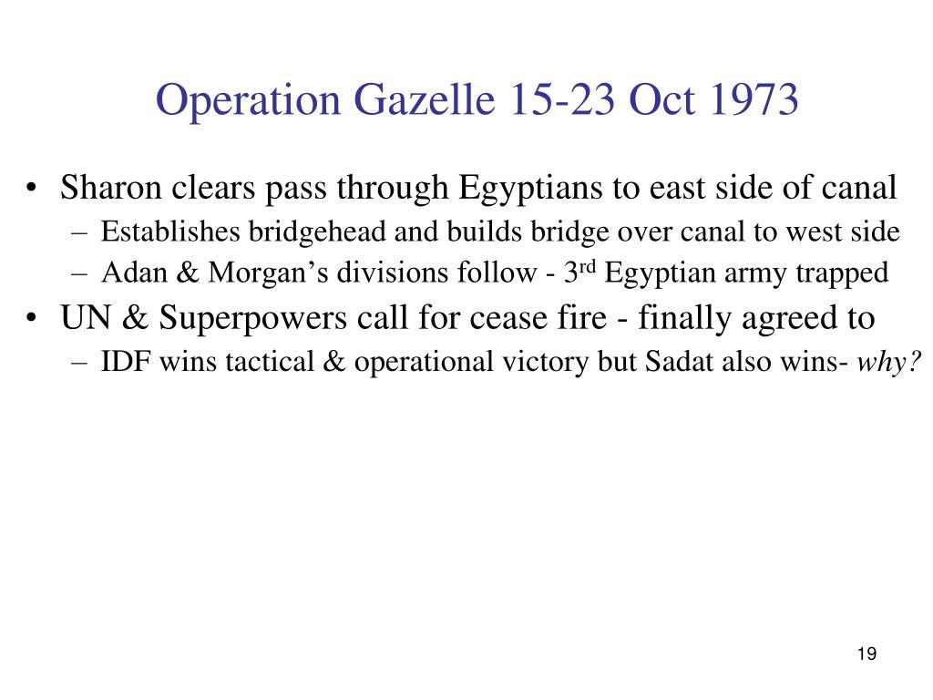 Operation Gazelle 15-23 Oct 1973