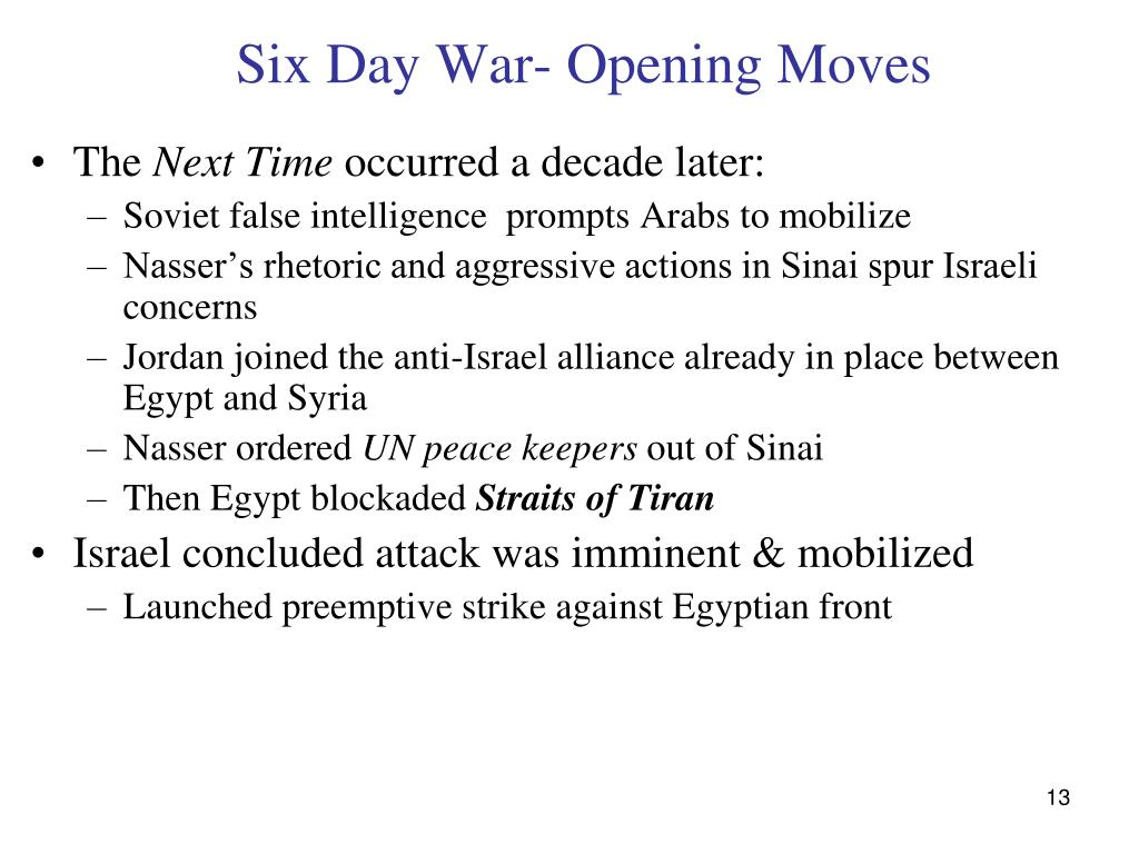 Six Day War- Opening Moves