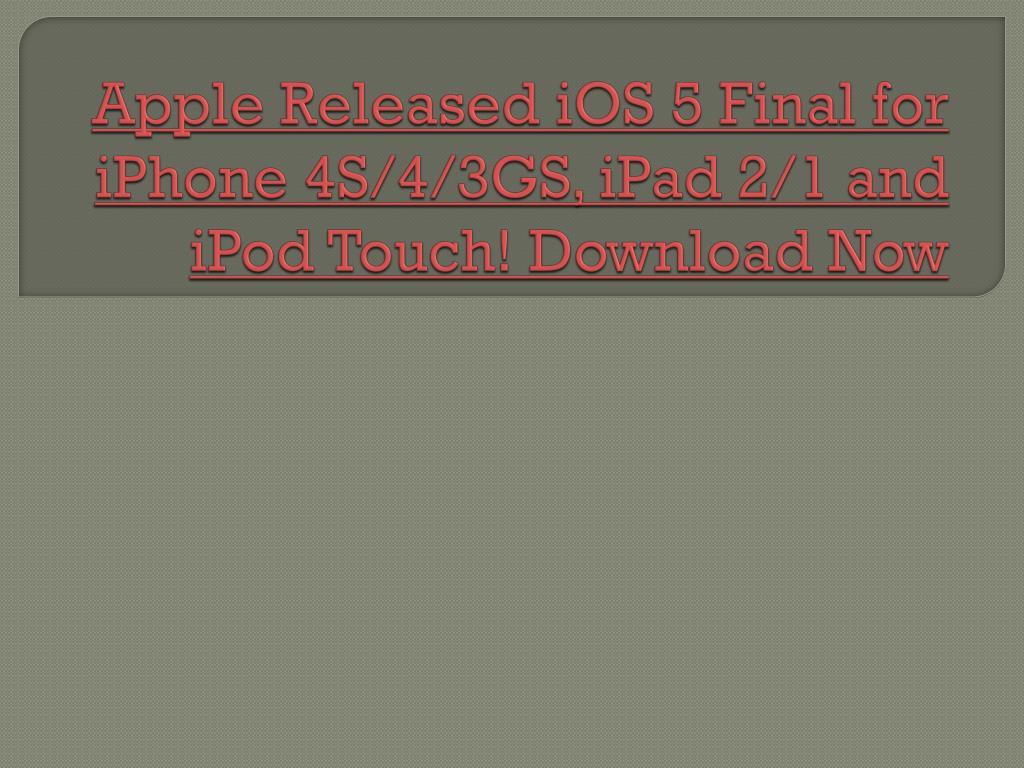 Apple Released