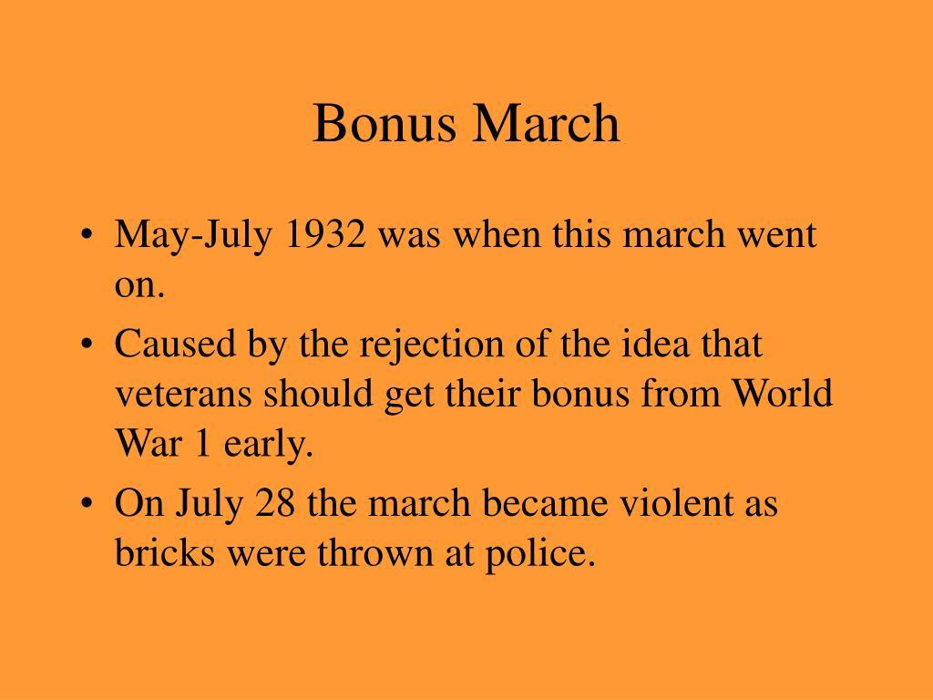 Bonus March