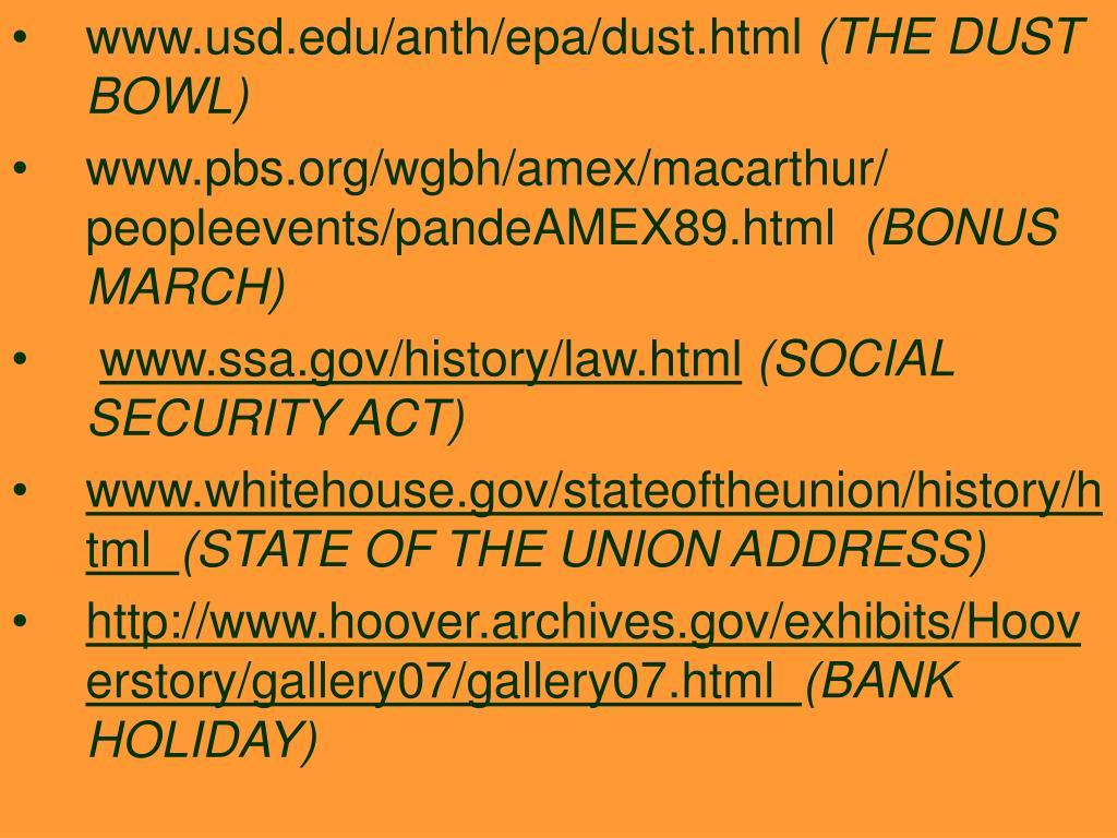 www.usd.edu/anth/epa/dust.html