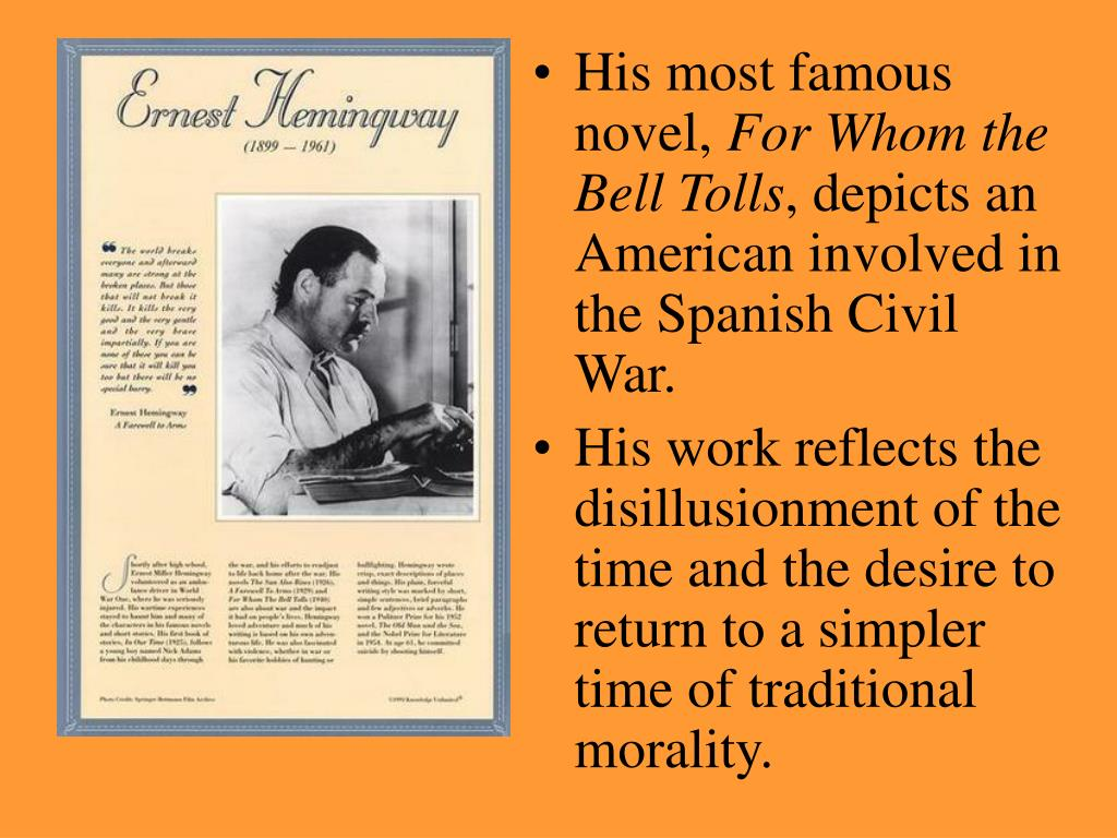 His most famous novel,