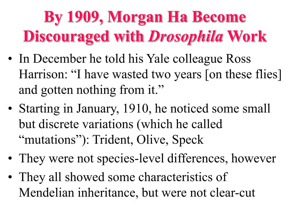 By 1909, Morgan Ha Become Discouraged with