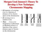 morgan used janssen s theory to develop a new technique chromosome mapping
