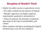 reception of mendel s work