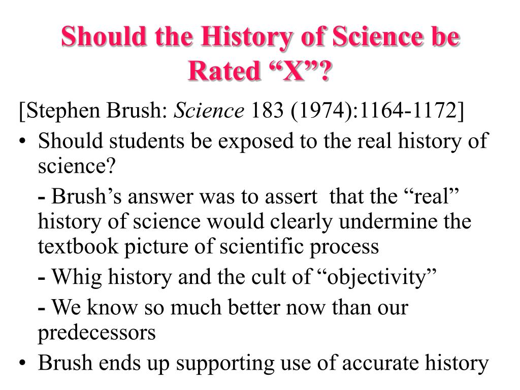 """Should the History of Science be Rated """"X""""?"""