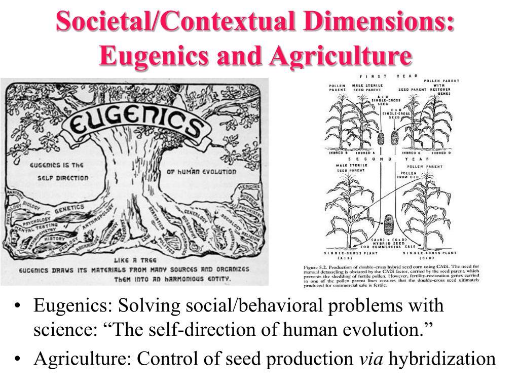 Societal/Contextual Dimensions: Eugenics and Agriculture