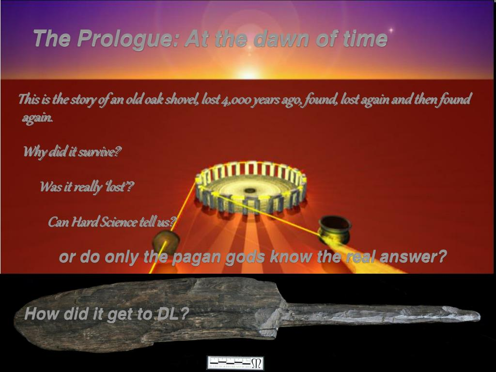 The Prologue: At the dawn of time