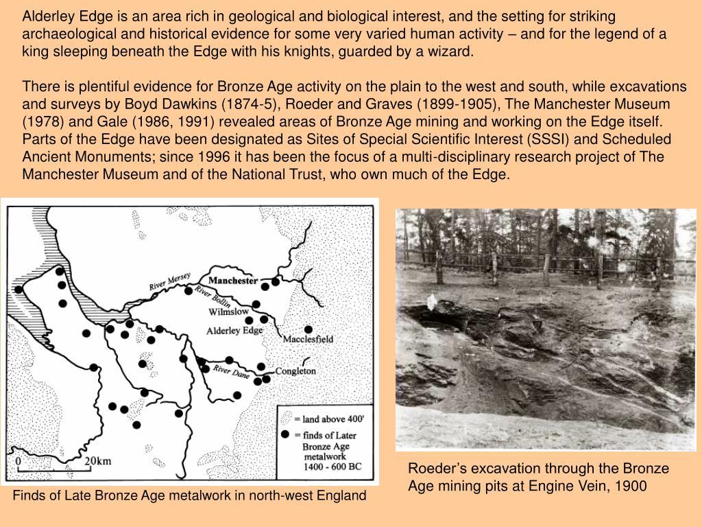 Roeder's excavation through the Bronze Age mining pits at Engine Vein, 1900