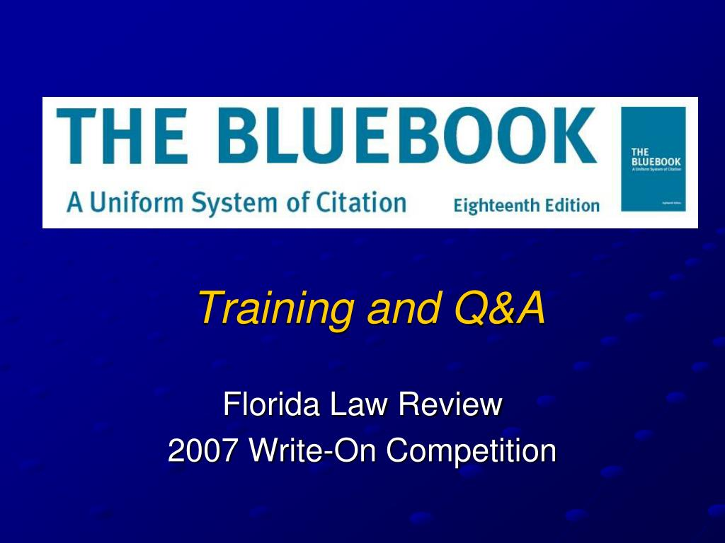 Training and Q&A