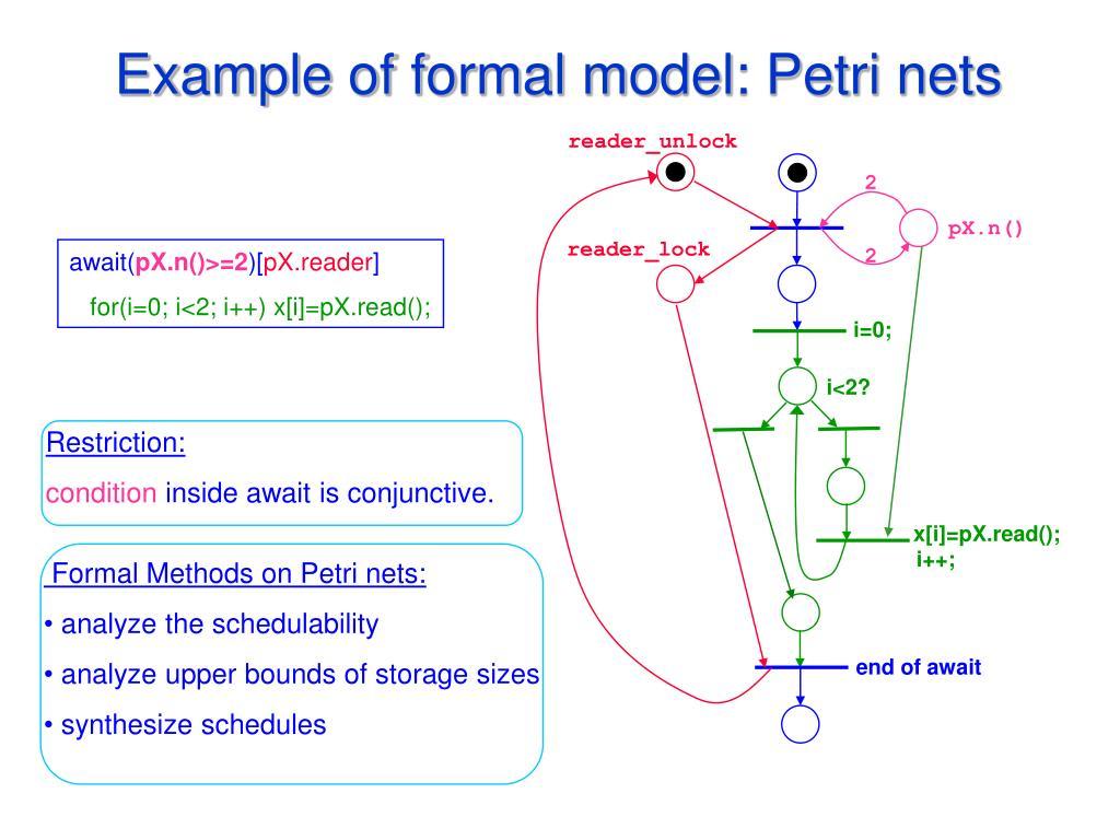 Example of formal model: Petri nets