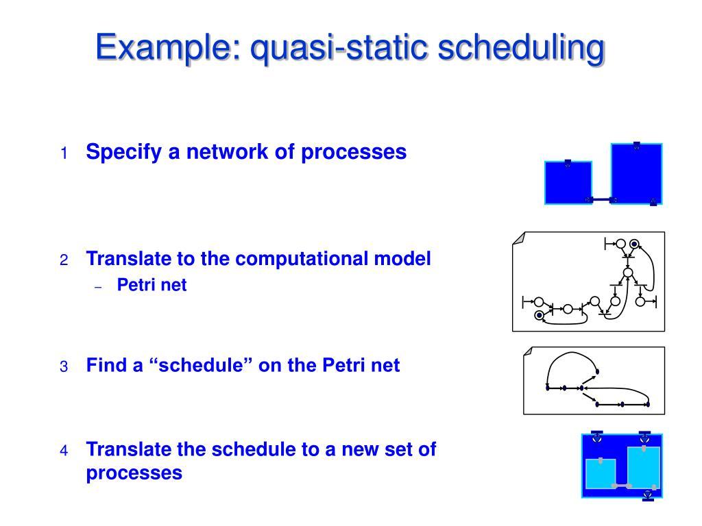Example: quasi-static scheduling
