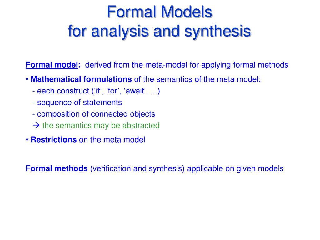 Formal Models