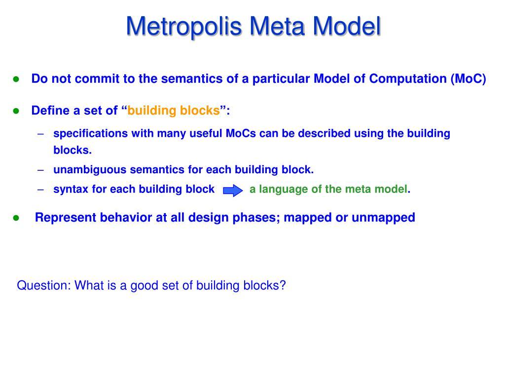Metropolis Meta Model