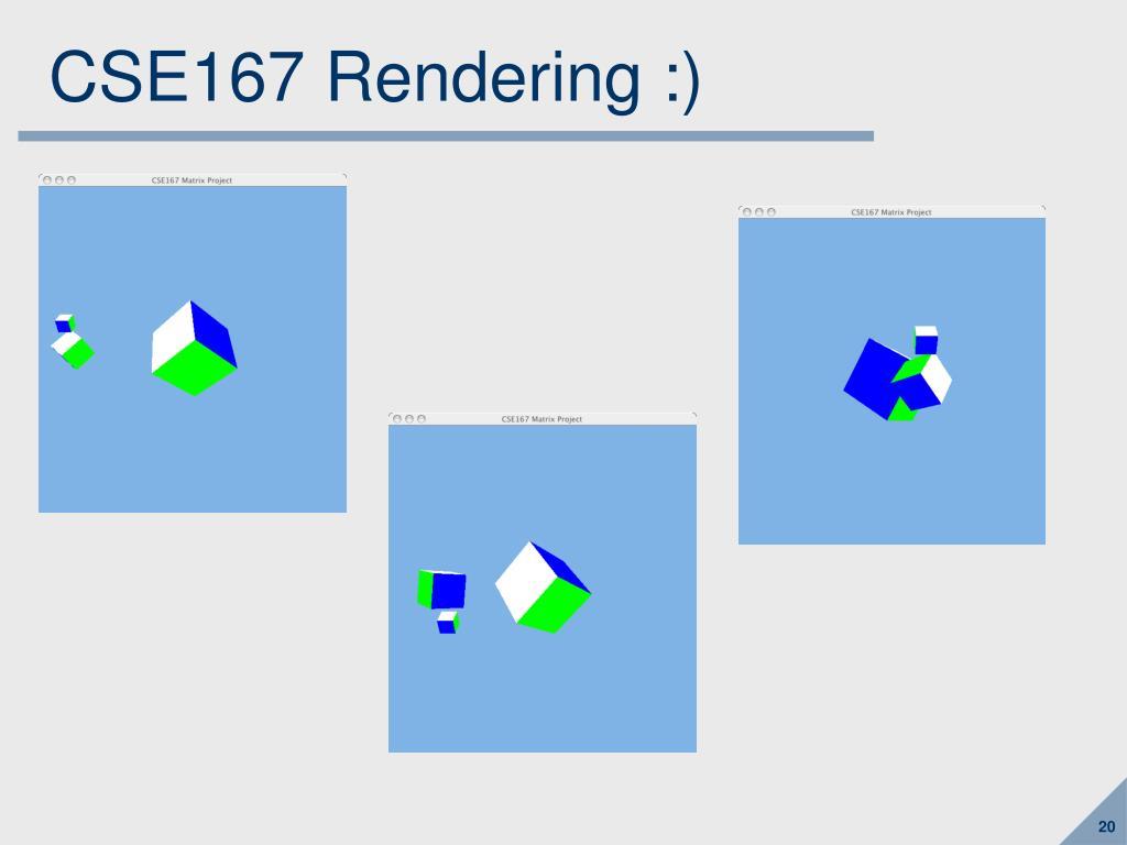 CSE167 Rendering :)