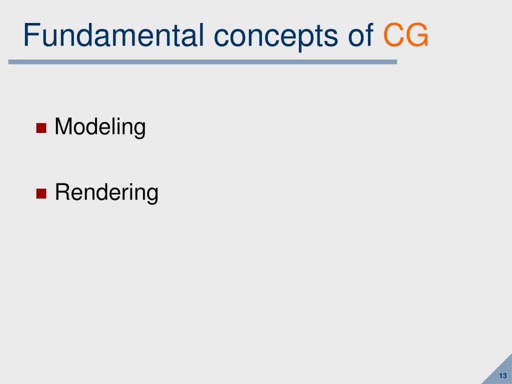 Fundamental concepts of