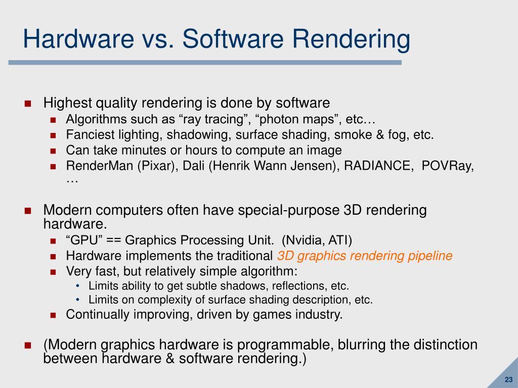 Hardware vs. Software Rendering