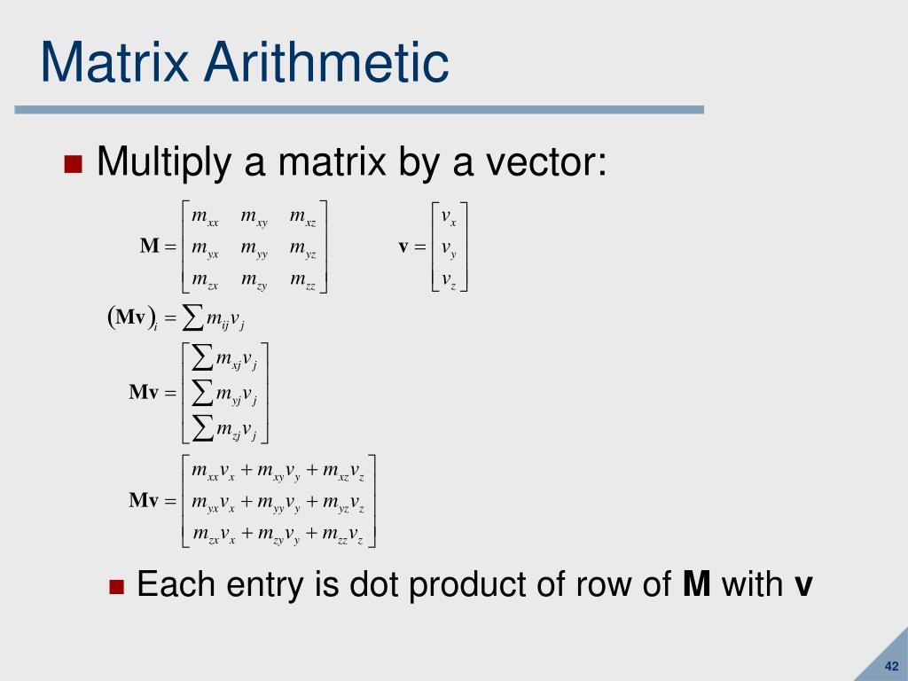 Matrix Arithmetic