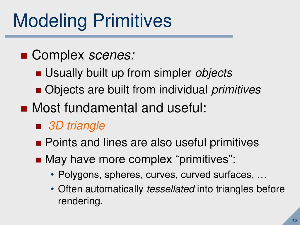 Modeling Primitives