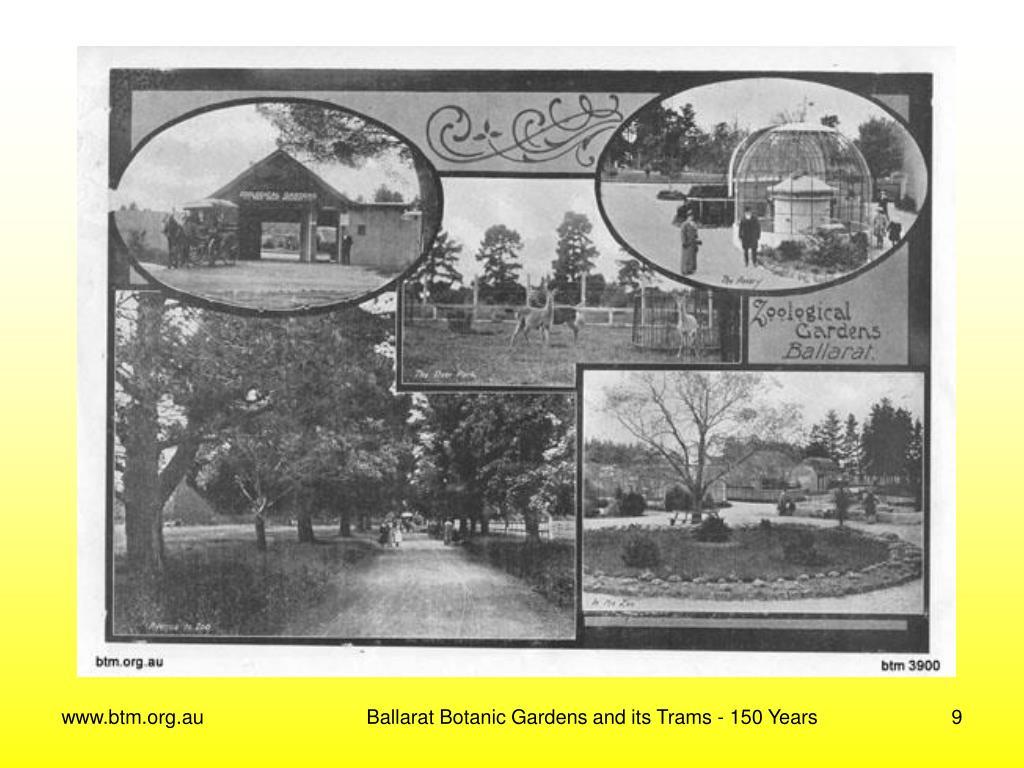 Ballarat Botanic Gardens and its Trams - 150 Years
