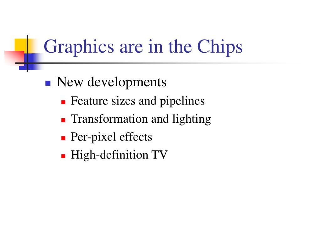 Graphics are in the Chips