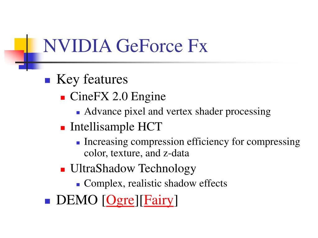 NVIDIA GeForce Fx