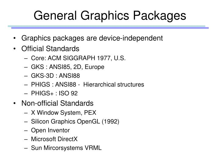General Graphics Packages