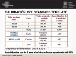 calibraci n del standard template17