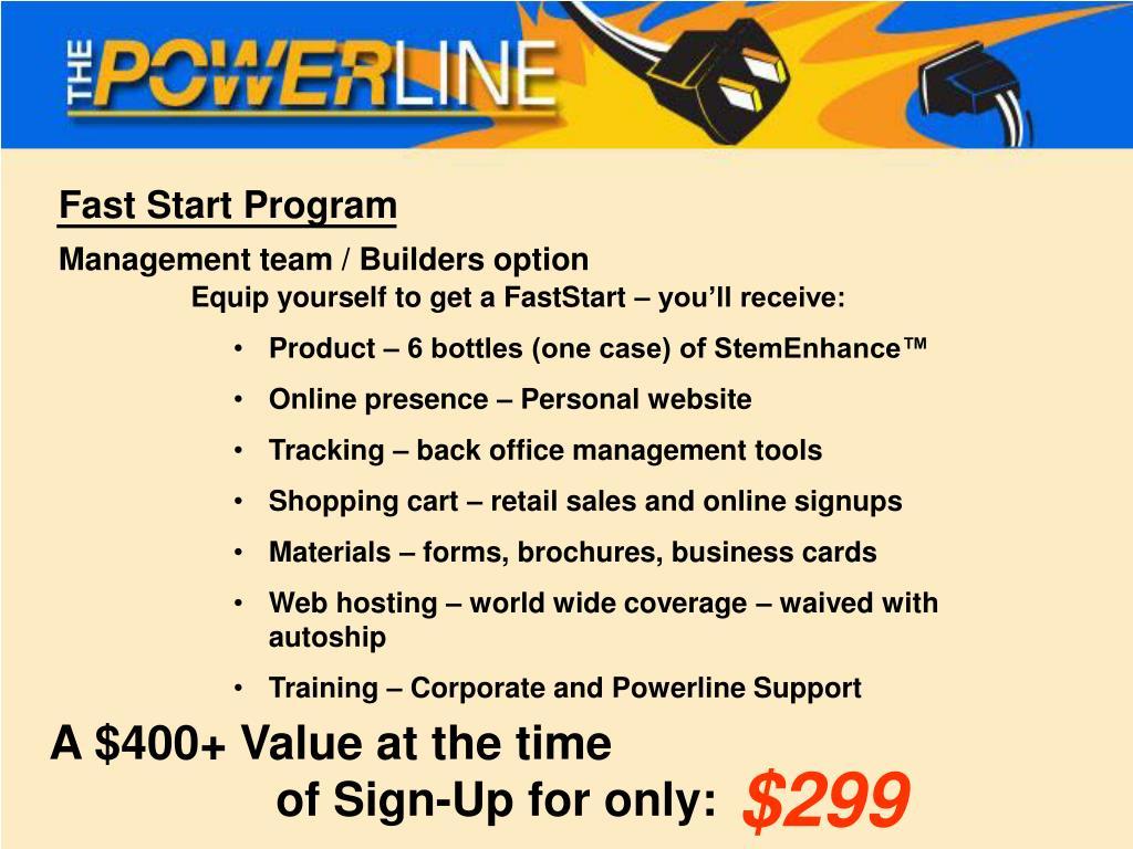 Fast Start Program