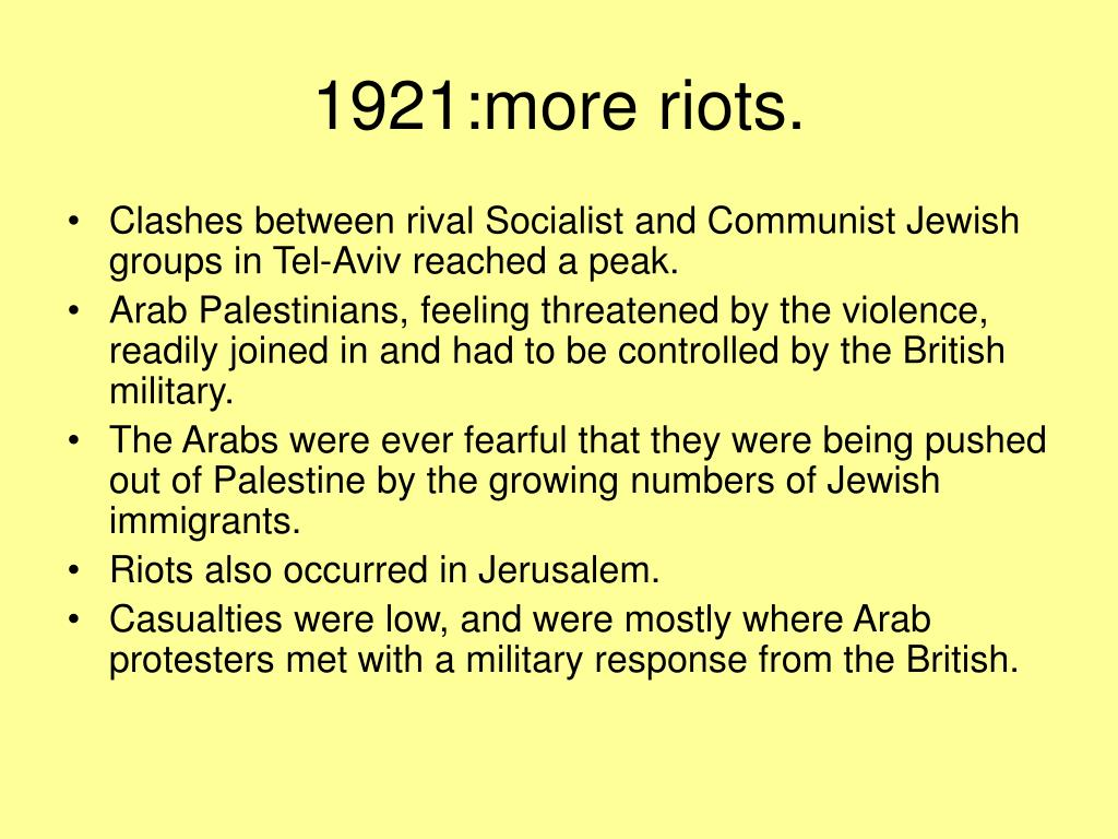1921:more riots.