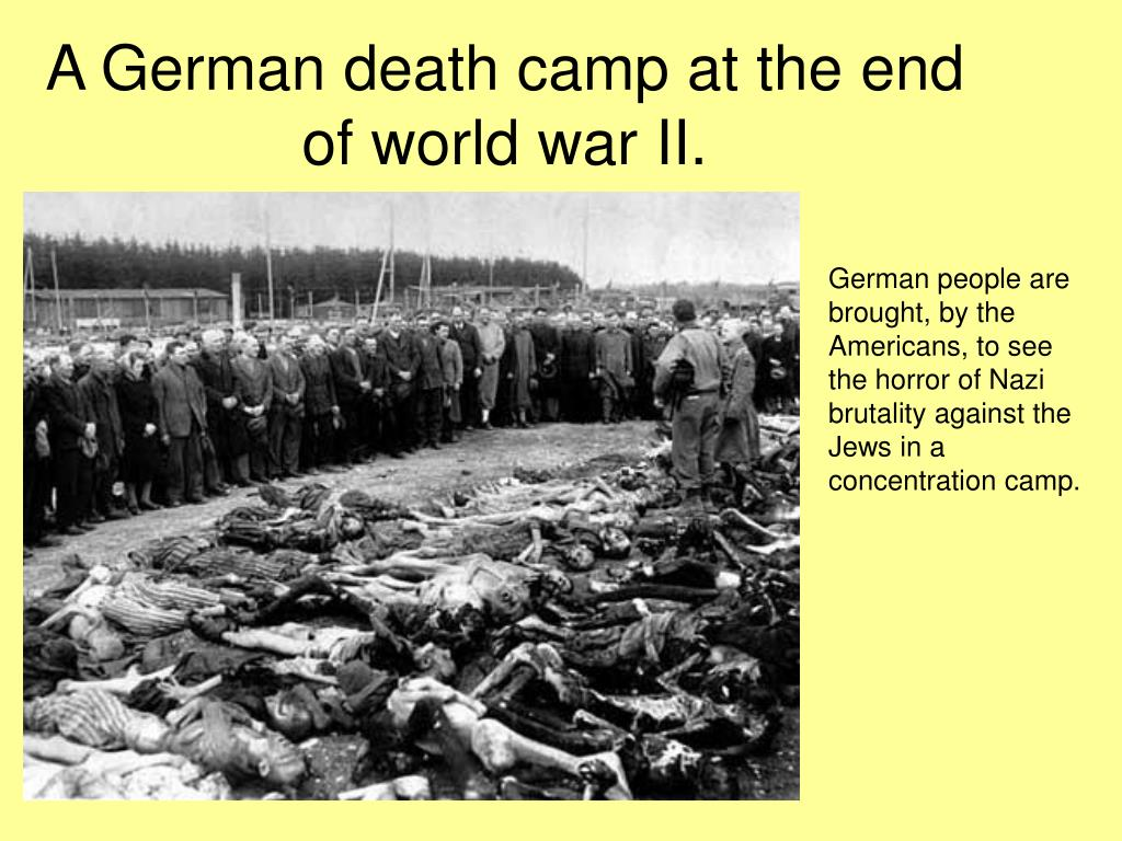 A German death camp at the end of world war II.